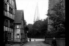 Historische Bilder aus Soest Lütgen Klosterkamp mit Schifer Turm, Soest mit freundlicher Genehmigung des LWL-Münster