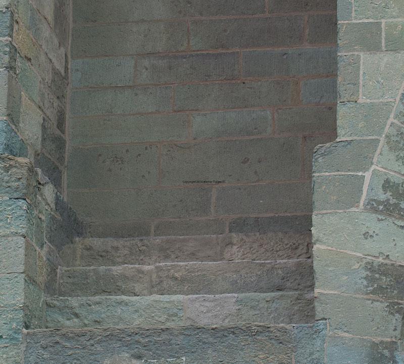 Patroklidom Soest Westwerk mit verschlossener Tür