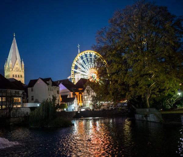 Blick vom großen Teich zu Dom und Petri ©Werner Tigges