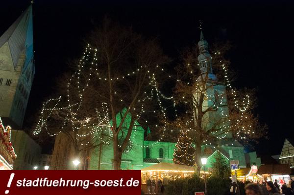 Petrikirchturm, von dem das Soester Gloria Heiligabend erklingt. ©Werner Tigges
