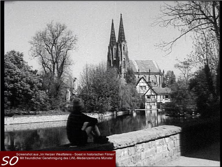 Am Grossen Teich in Soest mit Wiesenkirche und dem von Koeppen`schen Haus