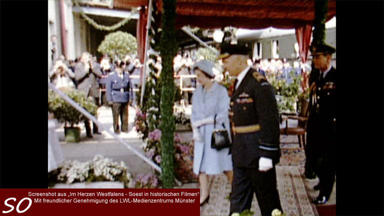 Die englische Queen Elizabeth II. in Soest 1965
