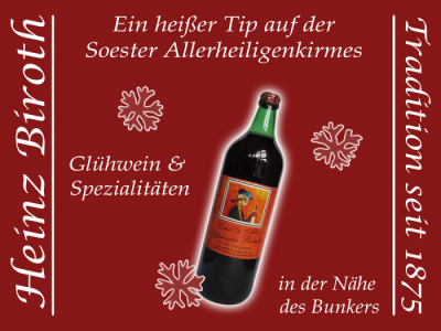 Werbung-Soonwald Kellerei Heinz biroth, Tel. 06706-369
