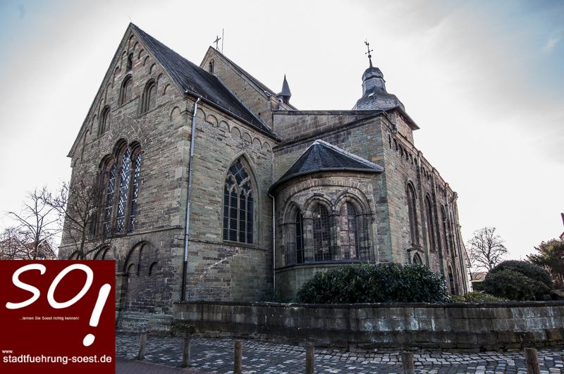 stadtführung-soest.de-Informationen zur alten Hansestadt-Soest-Die Hohnekirche-St. Maria zur Höhe in Soest, Kleine Osthofe ©Werner Tigges