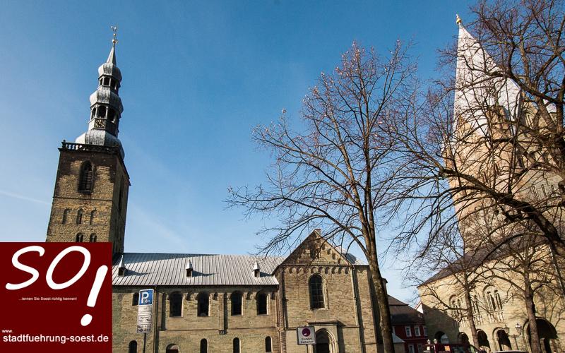 Blick von der Hospitalgasse auf Petrikirche und Dom ©Werner Tigges