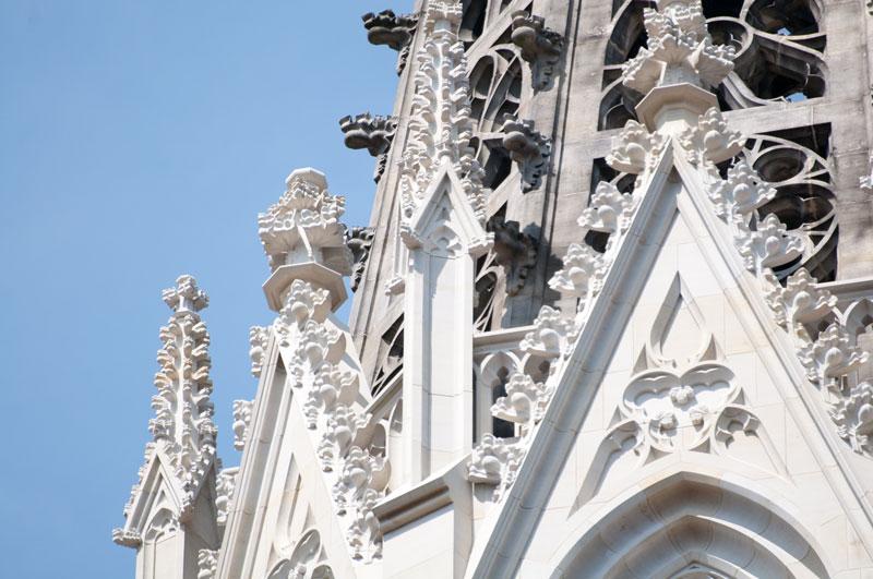Der Südturm der Wiesenkirche in Soest nach der Restaurierung 2015 @Werner Tigges