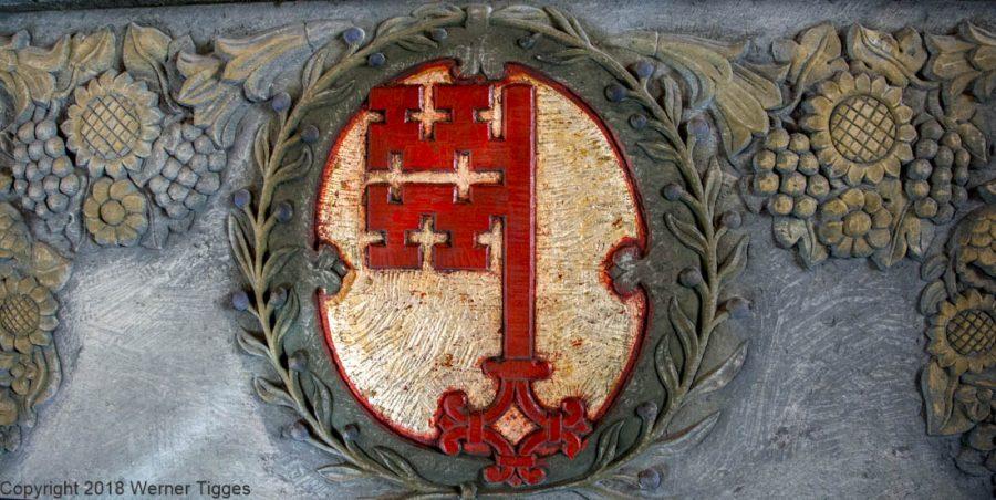 Soester Schlüssel am Kamin in der Winterratsstube -Das Soester Rathaus von 1713 für stadtfuehrung-soest.de