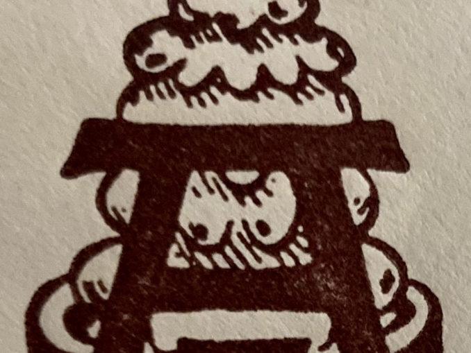 Logo Baumkuchen auf einem Briefumschlag Café Aecker Soest