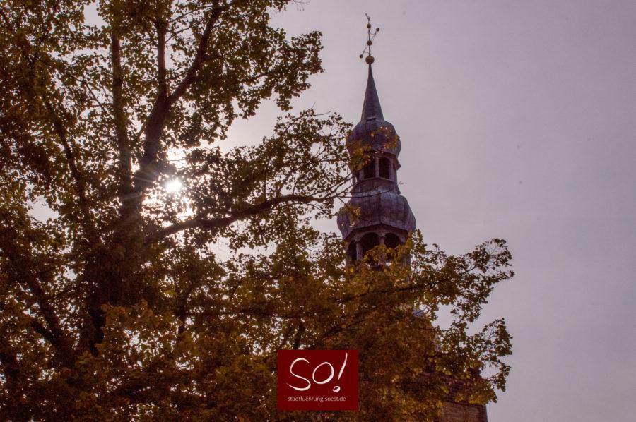 Petrikirchturm Soest in der Abendsonne